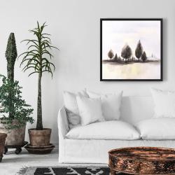 Framed 24 x 24 - Landscape of trees