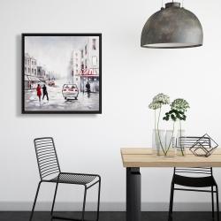 Framed 24 x 24 - Peaceful street scene