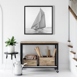 Framed 24 x 24 - Vintage sailing ship