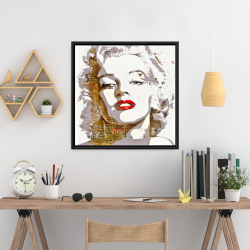 Framed 24 x 24 - Marilyn monroe with typography
