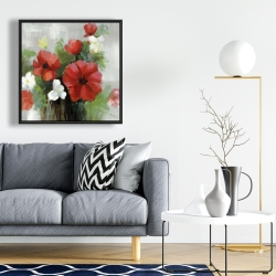 Framed 24 x 24 - Abstract wild flowers bundle