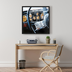 Framed 24 x 24 - Vintage car interior