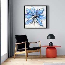 Framed 24 x 24 - Blue flower