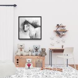 Framed 24 x 24 - Domino horse