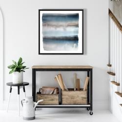 Framed 24 x 24 - Blue stripes