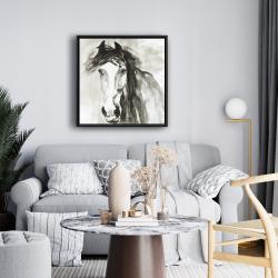 Framed 24 x 24 - Beautiful wild horse