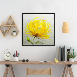 Framed 24 x 24 - Yellow fluffy flower