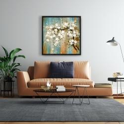 Framed 24 x 24 - Relaxing cherry blossoms