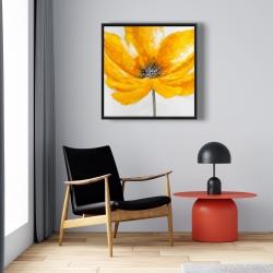 Framed 24 x 24 - Big yellow flower