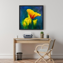 Framed 24 x 24 - Beautiful colorful flowers