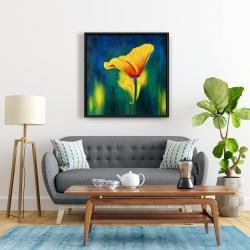 Framed 24 x 24 - Superb contrast flowers