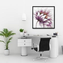 Framed 24 x 24 - Purple flower