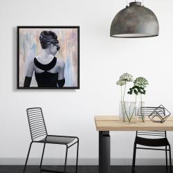 Framed 24 x 24 - Actress audrey hepburn