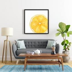 Framed 24 x 24 - Lemon slice