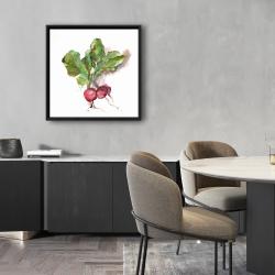 Framed 24 x 24 - Watercolor radish