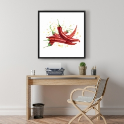 Framed 24 x 24 - Red hot peppers
