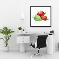 Framed 24 x 24 - Bell peppers