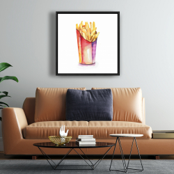 Framed 24 x 24 - Watercolor french fries