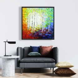 Framed 24 x 24 - Colorful forest
