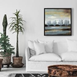 Framed 24 x 24 - Grey landscape