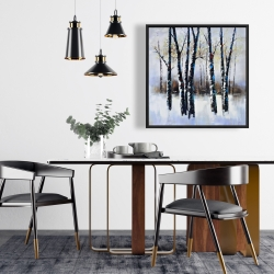 Framed 24 x 24 - Frosted trees