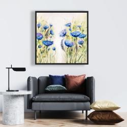 Framed 24 x 24 - Blue garden