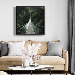 Framed 24 x 24 - Steep bridge