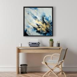 Framed 24 x 24 - Blue marble