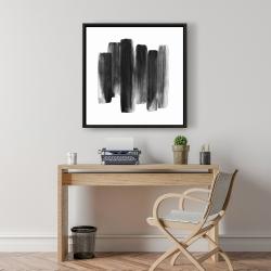 Framed 24 x 24 - Black shapes