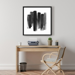 Framed 24 x 24 - Black shapes