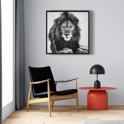 Framed 24 x 24 - The lion king