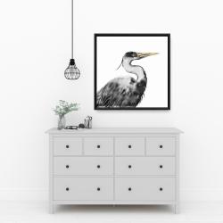 Framed 24 x 24 - Great heron