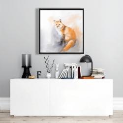 Framed 24 x 24 - Watercolor fox