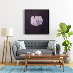 Framed 24 x 24 - Beautiful purple flower