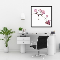 Framed 24 x 24 - Branch of cherry blossoms