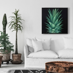 Framed 24 x 24 - Pineapple leaves