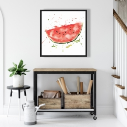 Framed 24 x 24 - Watermelon slice