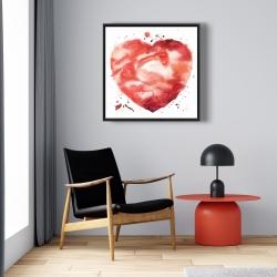 Framed 24 x 24 - Big heart