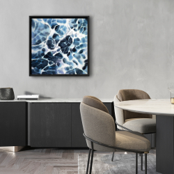 Framed 24 x 24 - Abstract stormy sea waves at tenerife sea