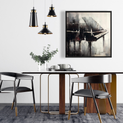 Framed 24 x 24 - Industrial style piano