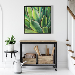 Framed 24 x 24 - Watercolor agave plant