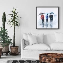 Framed 24 x 24 - Spring shower
