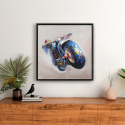 Framed 24 x 24 - Motorcycle in jump