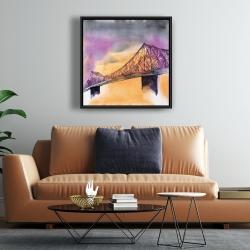 Framed 24 x 24 - Montreal jacques-cartier bridge