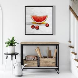 Framed 24 x 24 - Grapefruit slice