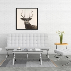 Framed 24 x 24 - Abstract deer