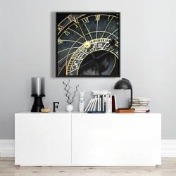 Framed 24 x 24 - Astrologic clock