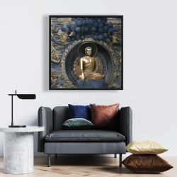Framed 24 x 24 - Grand buddha at lingshan scenic area in china