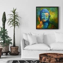 Encadré 24 x 24 - Bouddha coloré