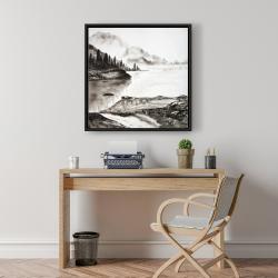 Framed 24 x 24 - Peaceful landscape